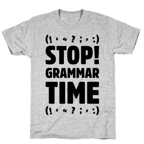 Stop Grammar Time Parody Mens T-Shirt