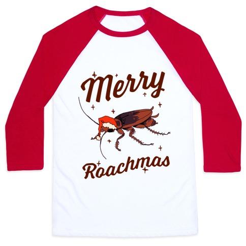 Merry Roachmas Baseball Tee