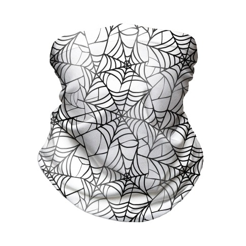 Spider Web Pattern Neck Gaiter
