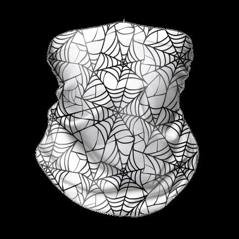 Spider Web Pattern Neck Gaiter