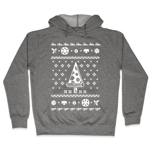Ugly Pizza Christmas Sweater Hooded Sweatshirt