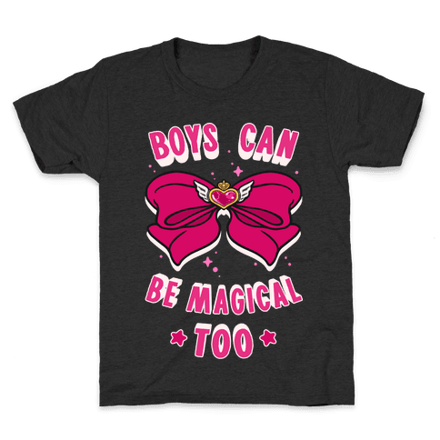 Boys Can Be Magical Too Kids T-Shirt