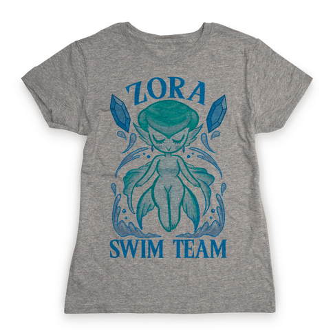 Zora Swim Team Parody Womens T-Shirt