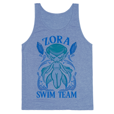 Zora Swim Team Parody Tank Top
