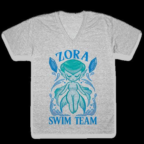 Zora Swim Team Parody V-Neck Tee Shirt