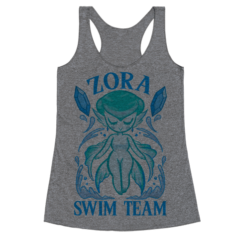 Zora Swim Team Parody Racerback Tank Top