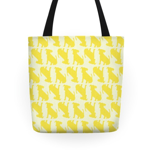 Yellow Puppy Pattern Tote