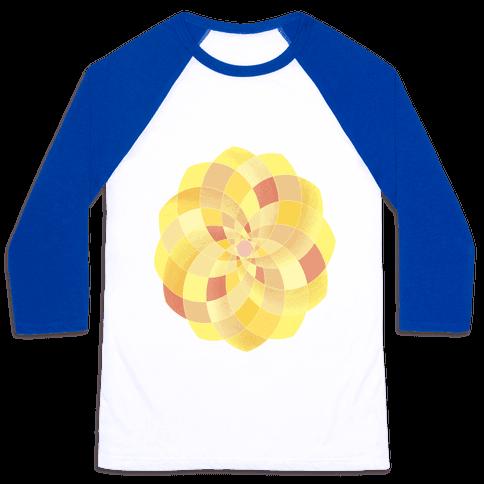 Geometric Summer Blossom Baseball Tee