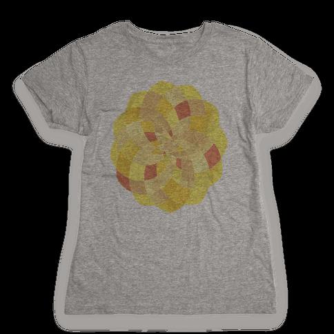 Geometric Summer Blossom Womens T-Shirt
