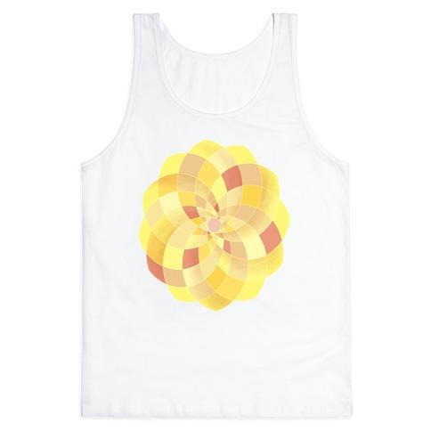 Geometric Summer Blossom Tank Top