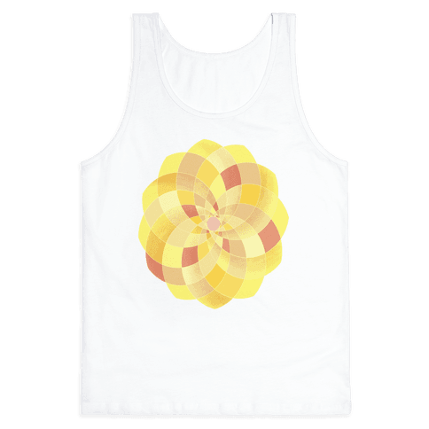 Geometric Summer Blossom Tank Top