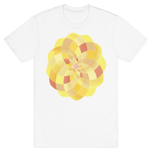 Geometric Summer Blossom Mens T-Shirt