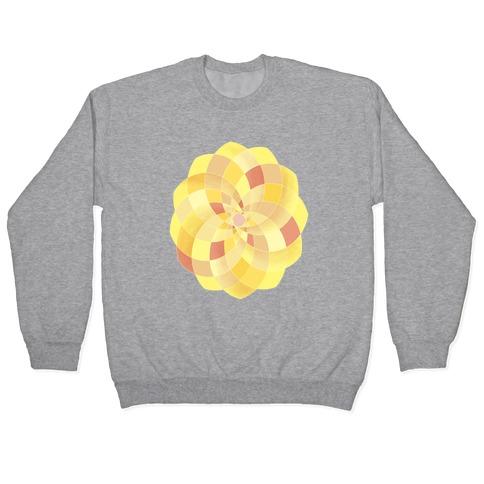 Geometric Summer Blossom Pullover