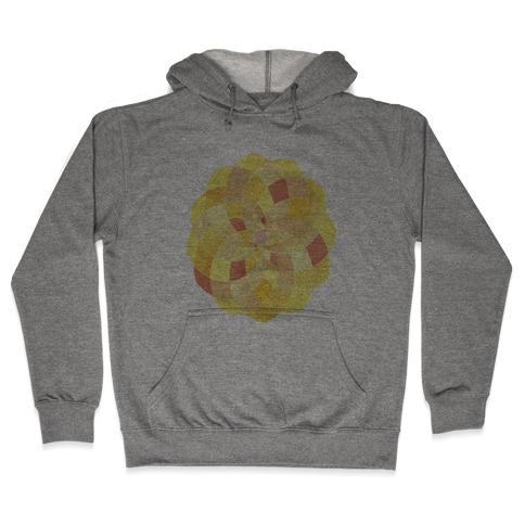 Geometric Summer Blossom Hooded Sweatshirt