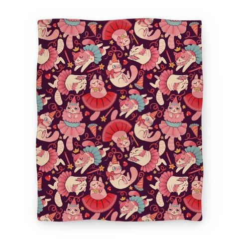 Cute Princess Cat Pattern Blanket