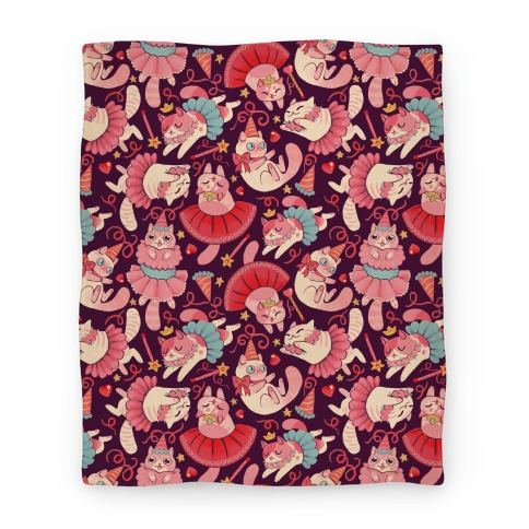 Cute Princess Cat Pattern Blanket