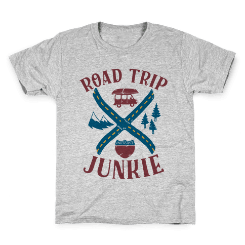 Road Trip Junkie Kids T-Shirt