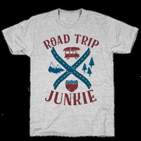 Road Trip Junkie Mens T-Shirt