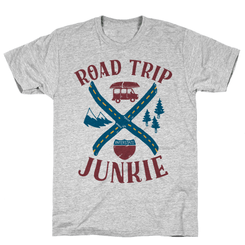 Road Trip Junkie Mens T-Shirt