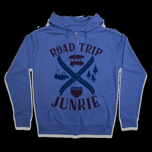 Road Trip Junkie Zip Hoodie