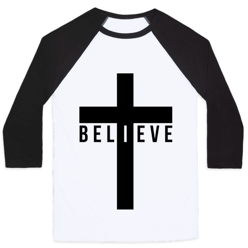 I Believe (Cross) Baseball Tee