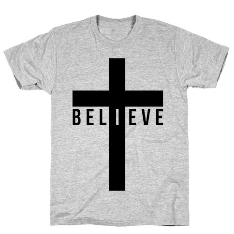 I Believe (Cross) Mens T-Shirt