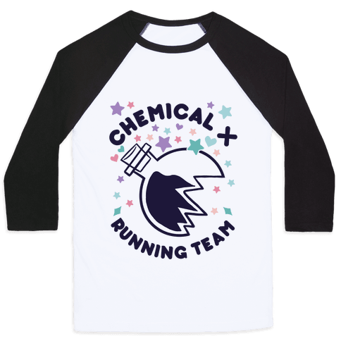 Chemical X Running Team Baseball Tee