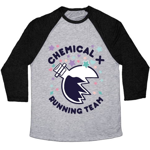Chemical X Running Team Baseball Tee