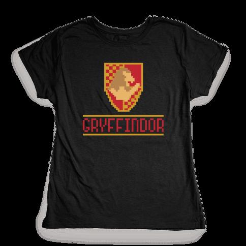 8 Bit Gryffindor  Womens T-Shirt