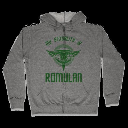 My Sexuality Is Romulan Zip Hoodie