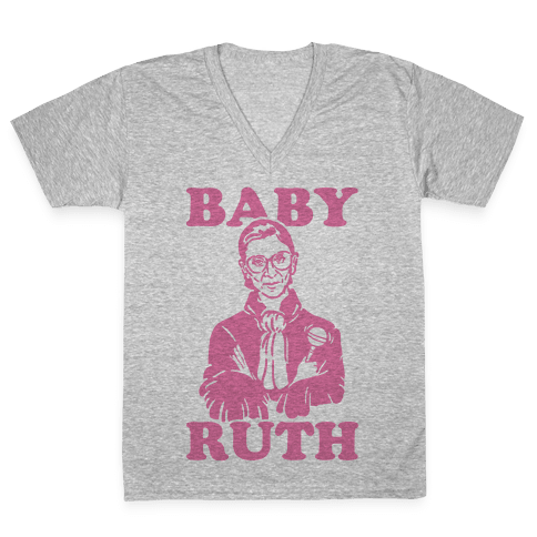 Baby Ruth V-Neck Tee Shirt