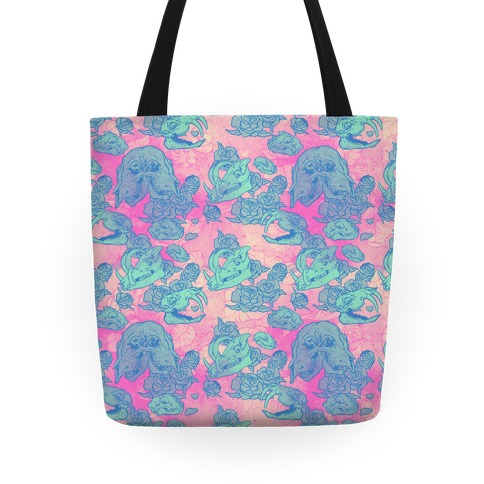 Skulls and Flowers Tote
