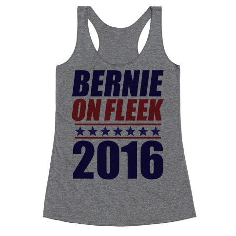 Bernie on Fleek Racerback Tank Top