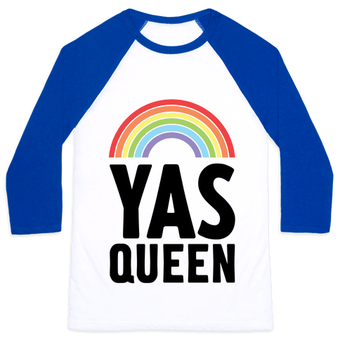 Yas Queen Rainbow Pride Baseball Tee