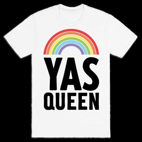Yas Queen Rainbow Pride Mens T-Shirt