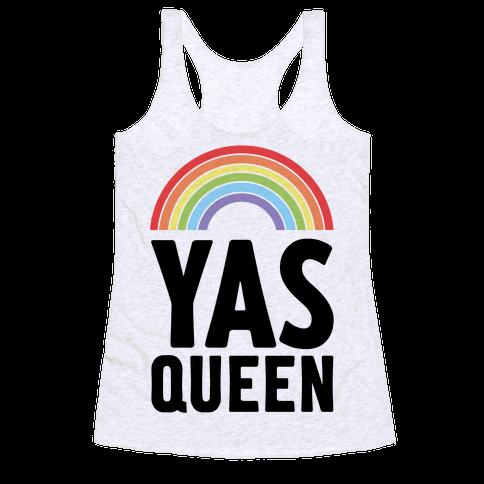 Yas Queen Rainbow Pride Racerback Tank Top