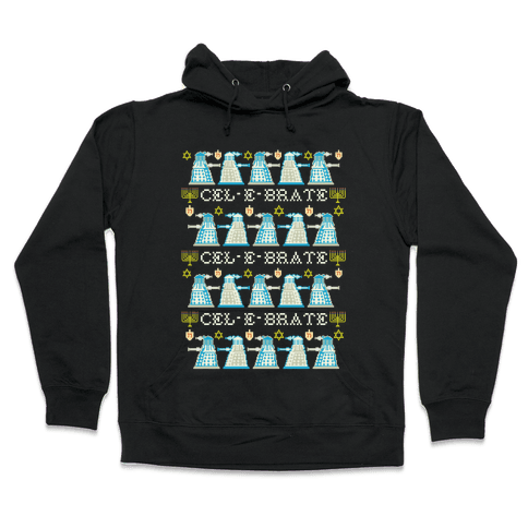 Dalek Hanukkah Sweater Hooded Sweatshirt