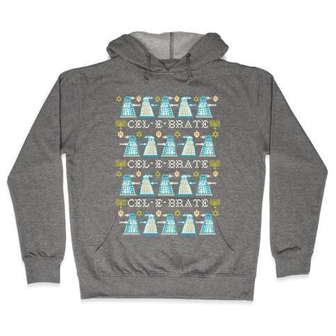 Dalek Hanukkah Sweater Hooded Sweatshirt