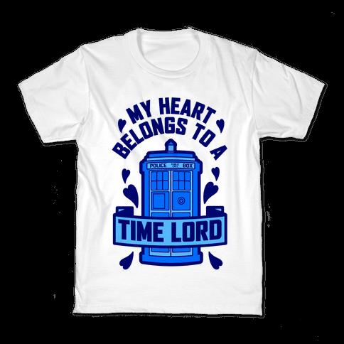 My Heart Belongs To A Time Lord Kids T-Shirt