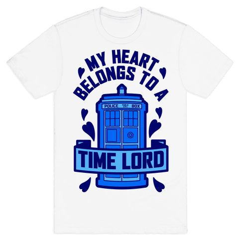 My Heart Belongs To A Time Lord Mens T-Shirt