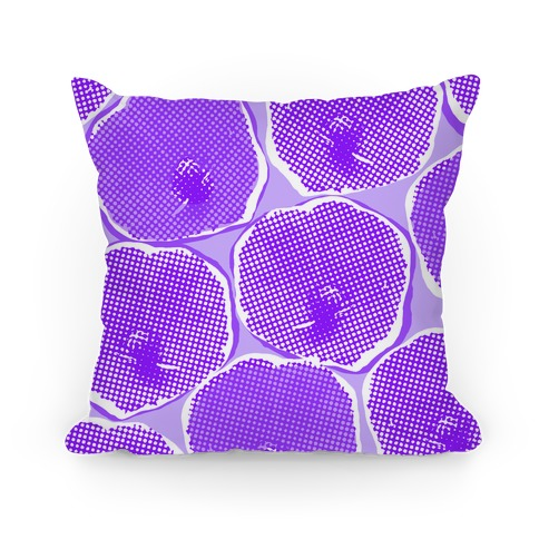 Large Purple Poppy Flower Pattern