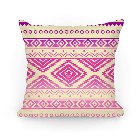 Aztec Ombre Pattern Pillow