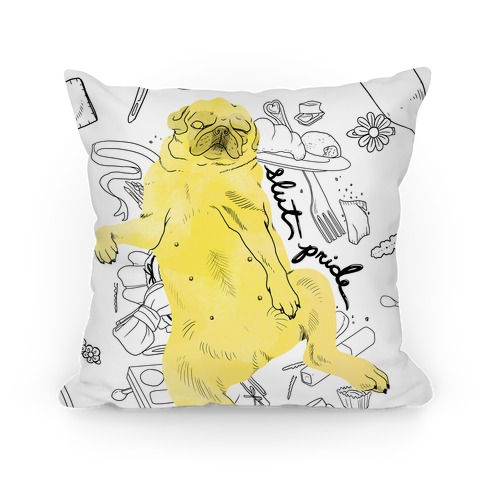 Slut Pride - Pug Pillow