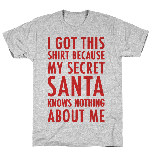 Secret Santa Shirt Mens T-Shirt