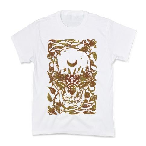Skull Moth Kids T-Shirt