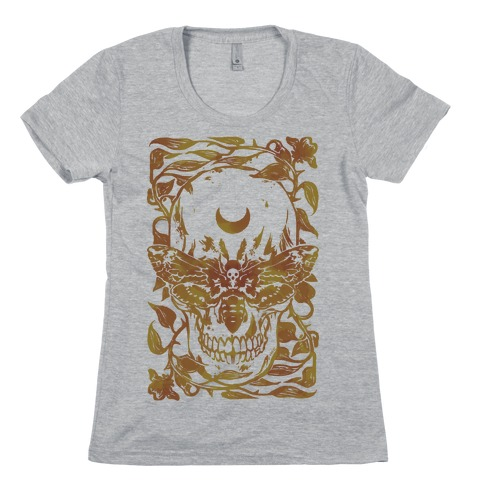 Skull Moth Womens T-Shirt
