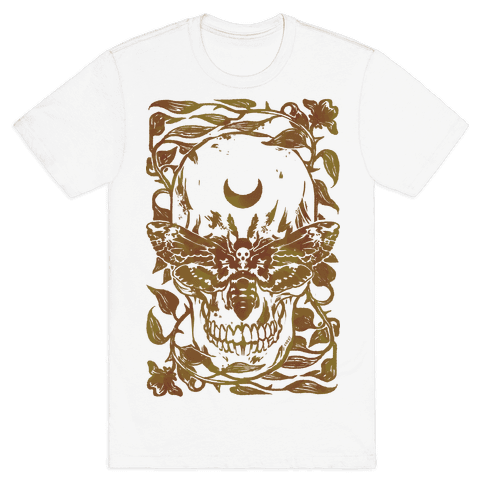 Skull Moth Mens T-Shirt