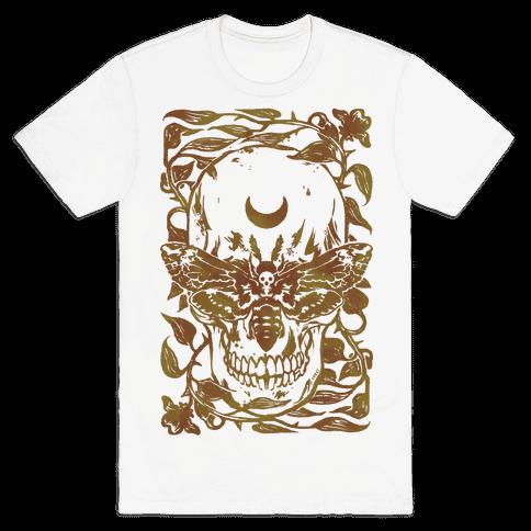 Skull Moth Mens T-Shirt