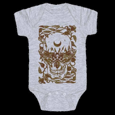 Skull Moth Baby Onesy