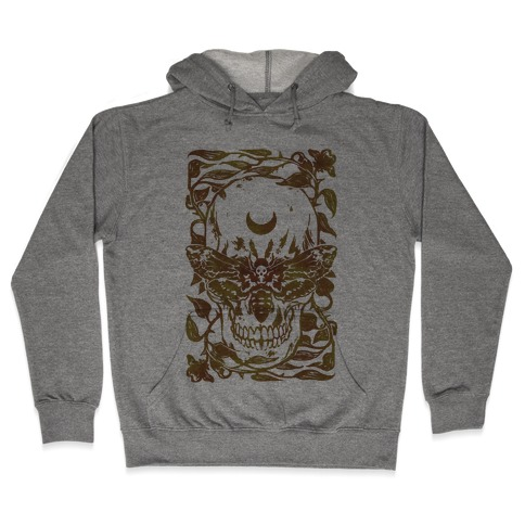 Skull Moth Hooded Sweatshirt